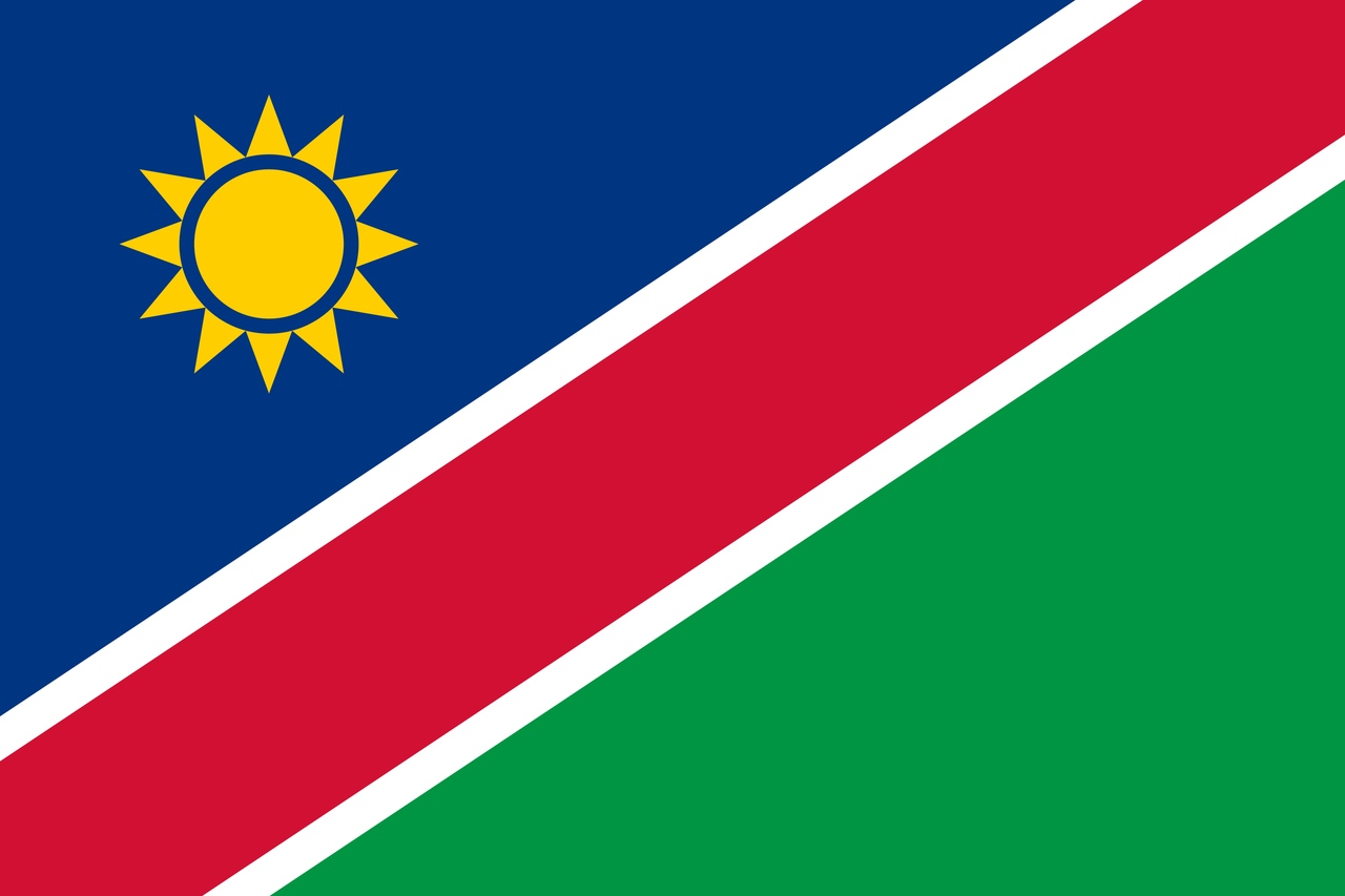Флаг Намибия