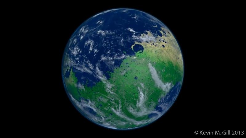 Так бы выглядил марс если бы на нем была вода