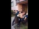 Польша полиция дисскутирует с гражданином