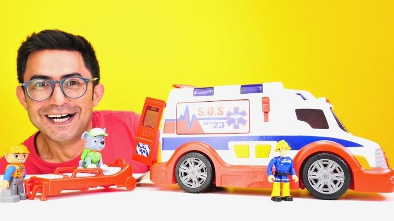 Oyuncak arabalar. Özel araçları veriyoruz! İtfaiye, dozer, ambulans