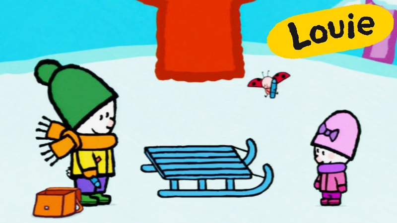 Louie, draw me a sledge | Learn to draw cartoon for kids