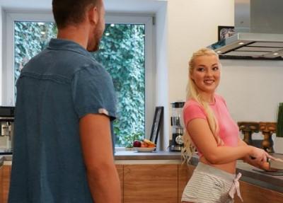 Newlyweds christen the kitchen