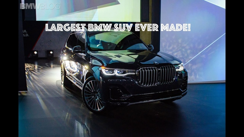 World Premiere BMW X7 and the largest BMW kidney grill ever