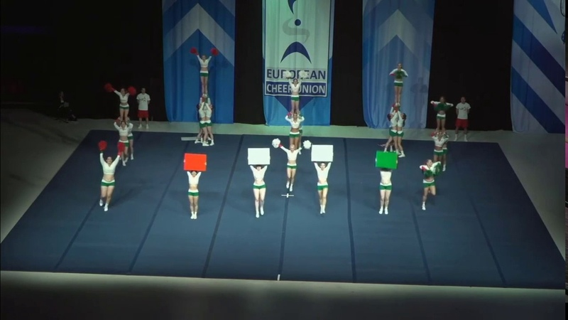 Cheerleading . Senior Cheer All Girl Elite Hungary Hungarian National All Girl Team.