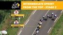Bird's-eye view of the intermediate sprint - Stage 2 - Tour de France 2018