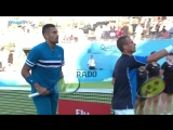 Hewitt and Kyrgios defeat HerbertMahut at Fever-Tree Championships