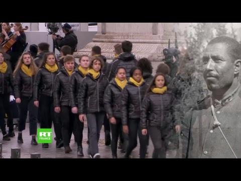 Centenaire de l'Armistice Cérémonie à l'Arc de Triomphe en direct sur RT France
