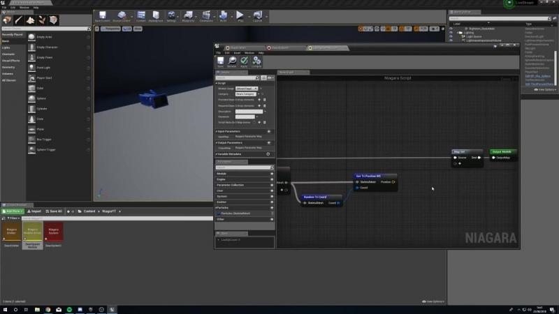 [EkŹo UE4] Зрелищный урок по Niagara в Unreal Engine 4. Повторение частицами положение персонажа.