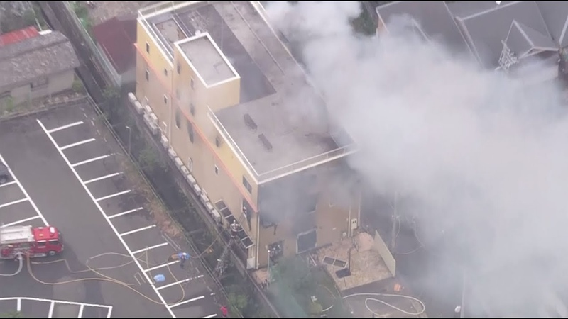 Пожар в студии аниме в Японии в результате которого погибли 23 человека