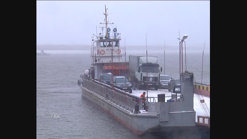 С 1 ноября Томская судоходная компания на маршруте Колпашево-левый берег будет осуществлять перевозки транспорта на одном пароме