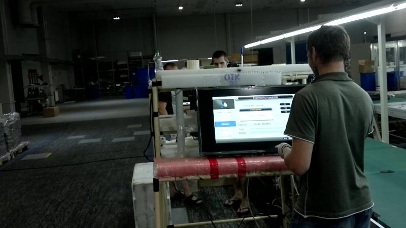 Предупаковочная проверка LCD-TV ОТК-33