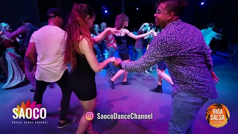 J York Djyork and Nerea Perez Rincon Salsa Dancing at Riga Salsa Festival 2018, Friday 10.08.2018