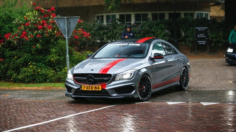 Mercedes AMG CLA 45 4Matic w Fi Exhaust Launch Control Revs Accelerations