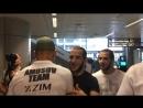 Ярослав Амосов прилетел в Киев, после победного боя над Джеральдом Харрисом, на турнире ММА Bellator 202, в США. В аэропорту Яро