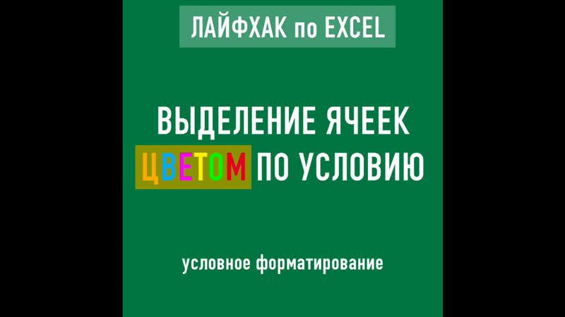 Ms Excel. Условное форматирование