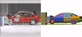Virtual crash test of Taurus using ATI FirePro V8800 and HyperWorks