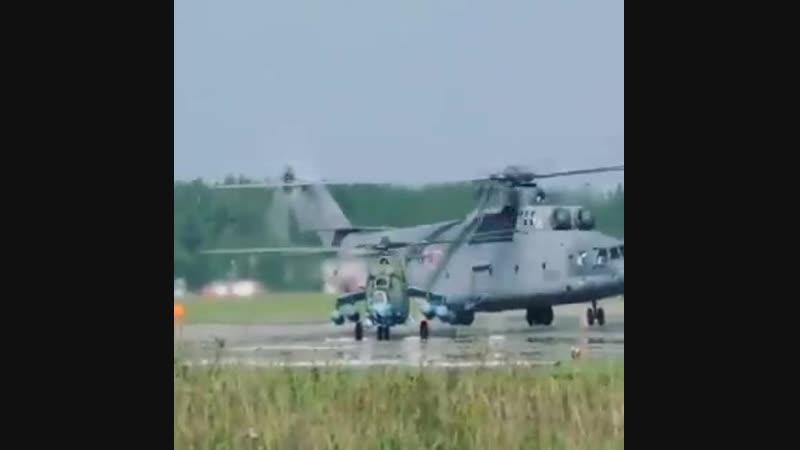 Наглядное сравнение размеров Ми-35 и Ми-26