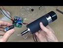 Шпиндель 500W с ШИМ регулятором оборотов для станка ЧПУ Spindle JM52 500W PWM controller Unboxing