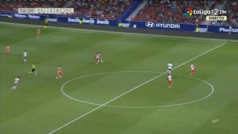 CF Райо Махадаонда - Реал Спортинг Хихон, 2-0, гол Исаака Карселена, голевая Айтора Гарсии