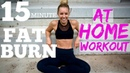 15min FAT BURNER AT HOME FULL BODY WORKOUT
