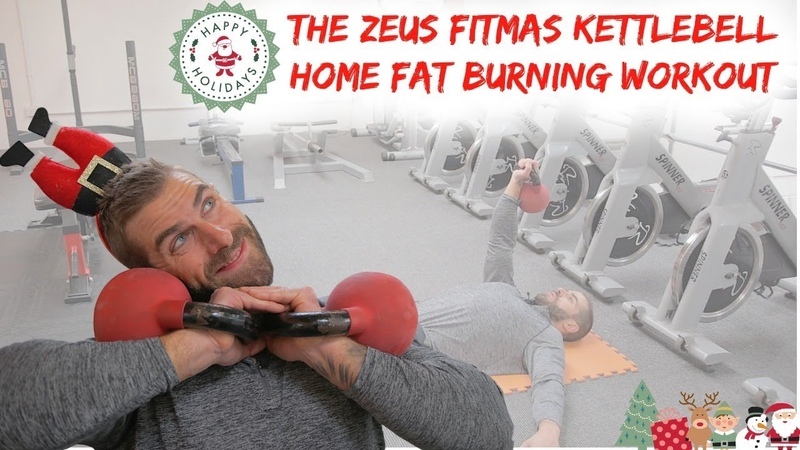 The Fitmas Kettlebell Total Body Home Fat burning Workout (Christmas workout)