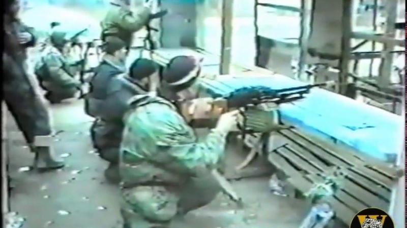 Уникальные кадры СОБР в Грозном Чечня 1996г 6 часть Бой