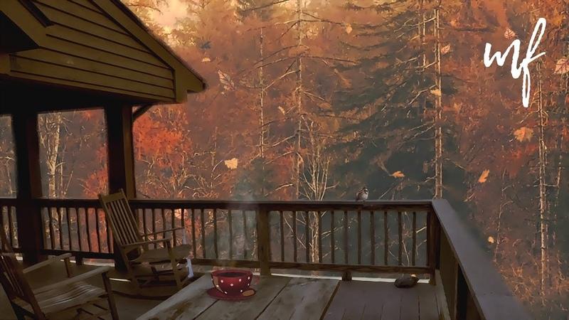 Autumn Porch Tea Time ASMR Ambience