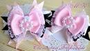 Многослойные бантики из атласных и репсовых лент/бантики из лент канзаши мк/ribbon bows