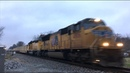 NS Train 056, An Eastbound Military Special near Fairfield, IL - Nov. 30, 2018