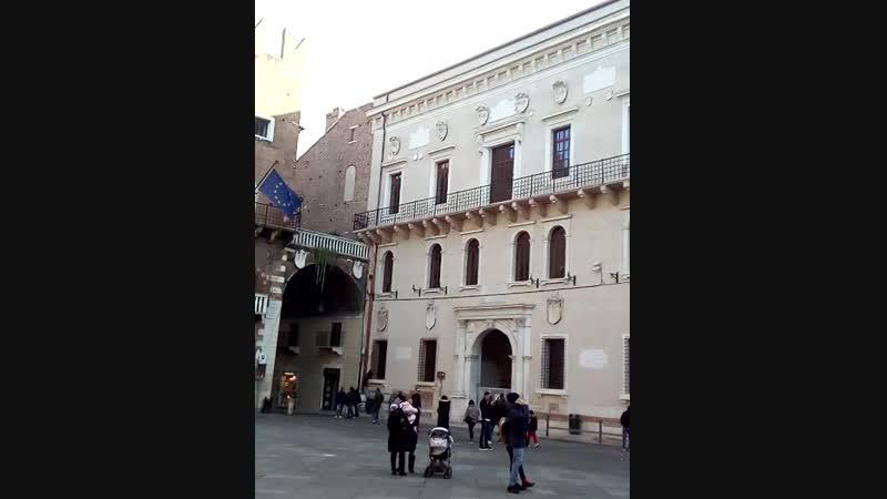 Верона.Памятник Данте 01.19г.