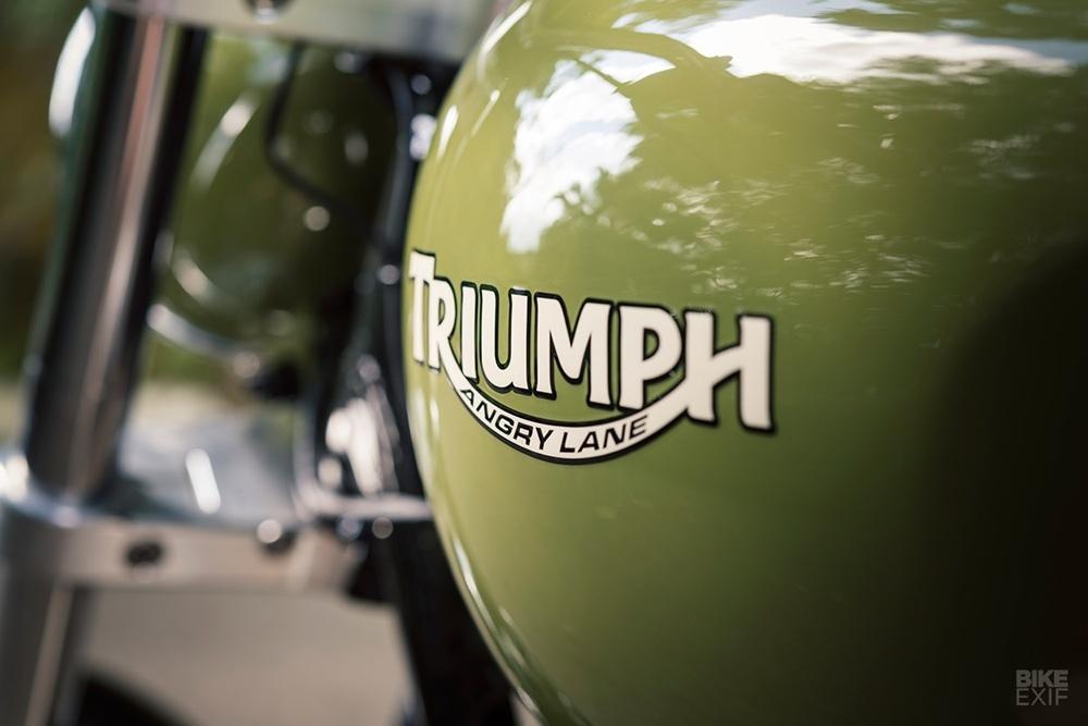 Angry Lane: кастом Triumph Bonneville T140 RV 1977