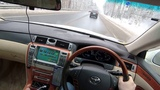 POV video Toyota Crown Majesta UZS186, удобно ли обгонять на правом руле