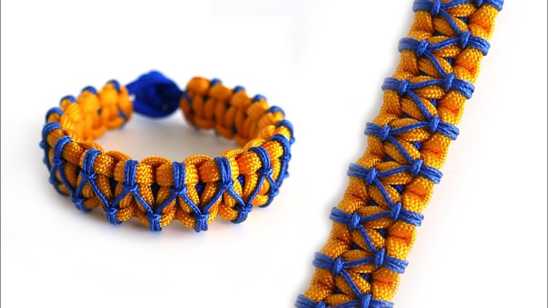 How to Make a Lark's Head Stitched Cobra Knot Paracord Bracelet Tutorial
