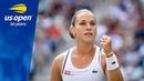 Dominika Cibulkova Shocks A Kerber in Three Sets in R3 of the 2018 US Open
