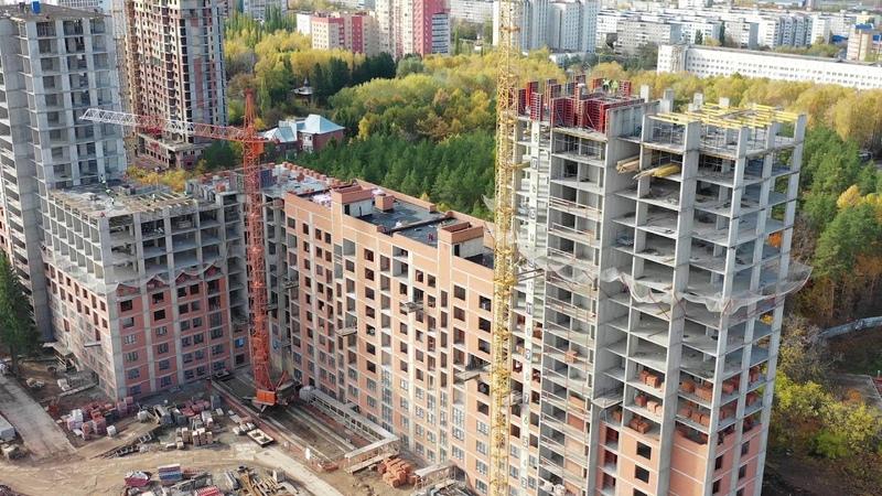 Динамика строительства ЖК «Венский лес» (октябрь, 2018)