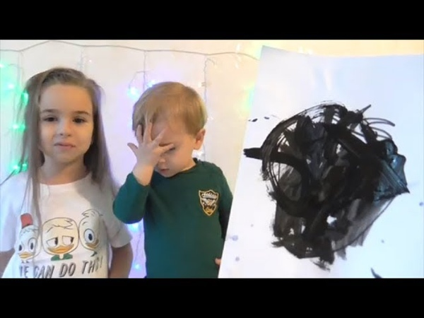 Challenge Educational activitiy for children with Finger Paints and Coloring