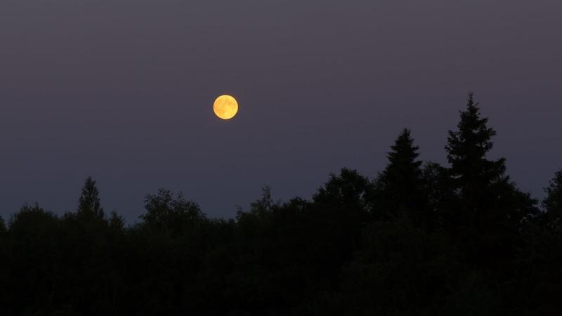 Восход Луны Таймлапс MoonRise TimeLapse