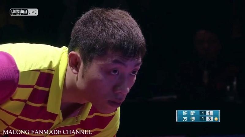 Xu Xin vs Fang Bo   Final   China Super League 20182019