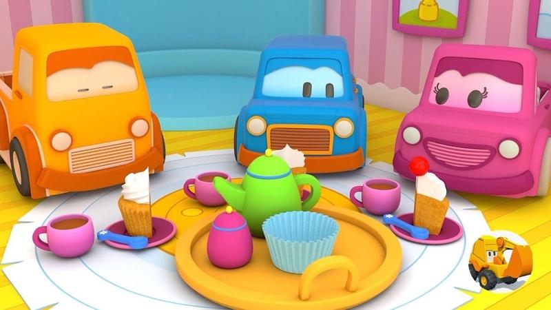 Videos para niños - Coches Inteligentes tienen una fiesta del té