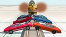 JET Charged Train crashes BeamNG Drive Crash Therapy
