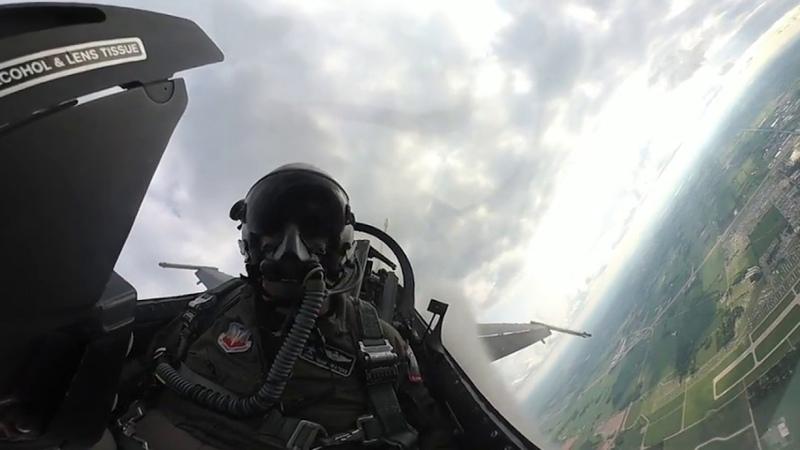 F 16 Viper Demo at 2018 Airventure VR 360 4k
