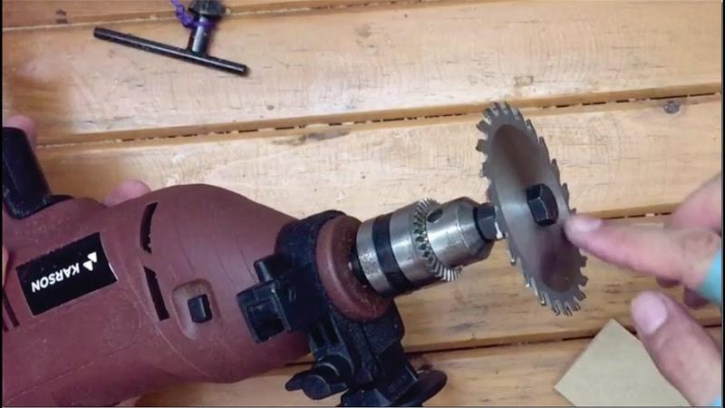 Sierra para madera con un taladro