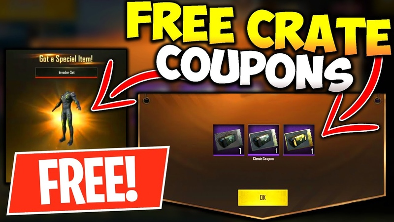 HOW to GET FREE CRATE COUPONS in PUBG MOBILE 100% Working Trick in PUBG Mobile