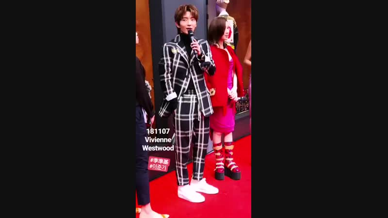 20181107 LeeJoonGi Hong Kong. For Vivienne Westwood Opening Ceremony. Source: hk. kpop. page Insta Story