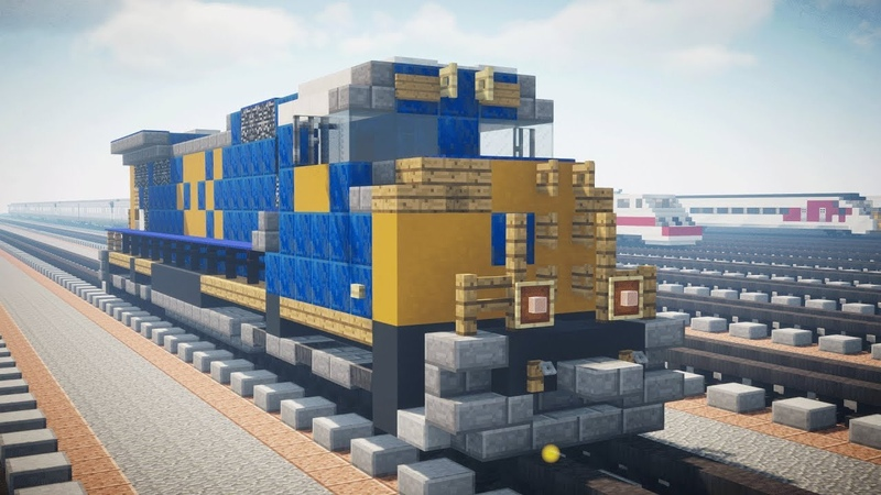 Minecraft CSX SD70MAC Diesel Locomotive Tutorial