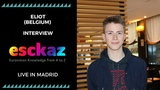 ESCKAZ in Madrid Interview with Eliot (Belgium) (at PrePartyES 2019)