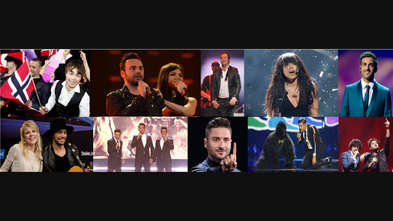 Top-5 from each year at Eurovision 2009-2018 in my opinion