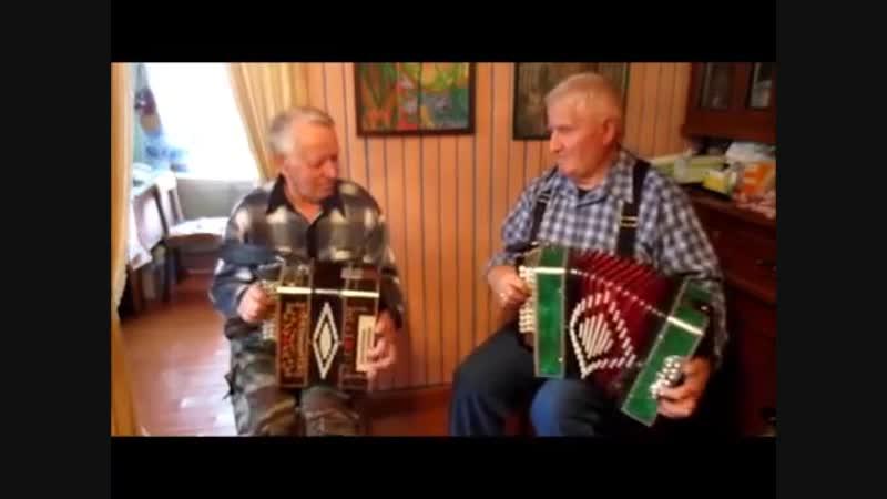 Два друга - гармониста Александров А.Е. и Костин А.А. г.Белозерск 25.09.2017г.