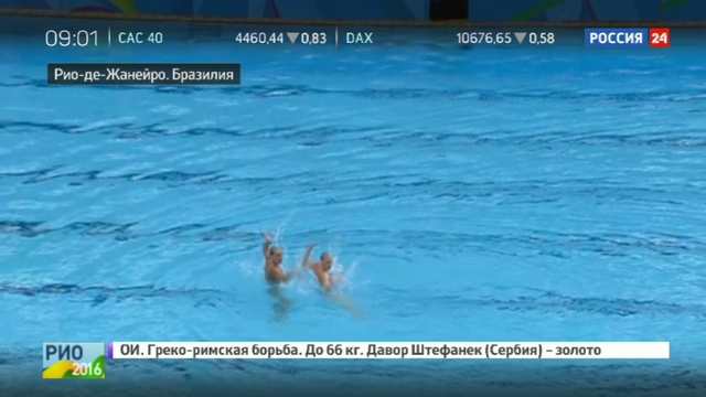 Новости на Россия 24 Золотые русалки Ищенко и Ромашина стали четырехкратными олимпийскими чемпионками