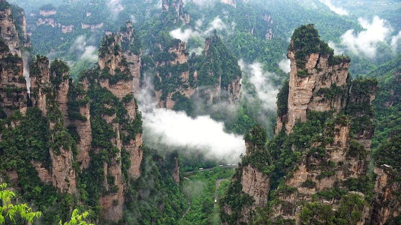 Avatar Mountain Wulingyuan Scenic Area Zhangjiajie China in 4K Ultra HD